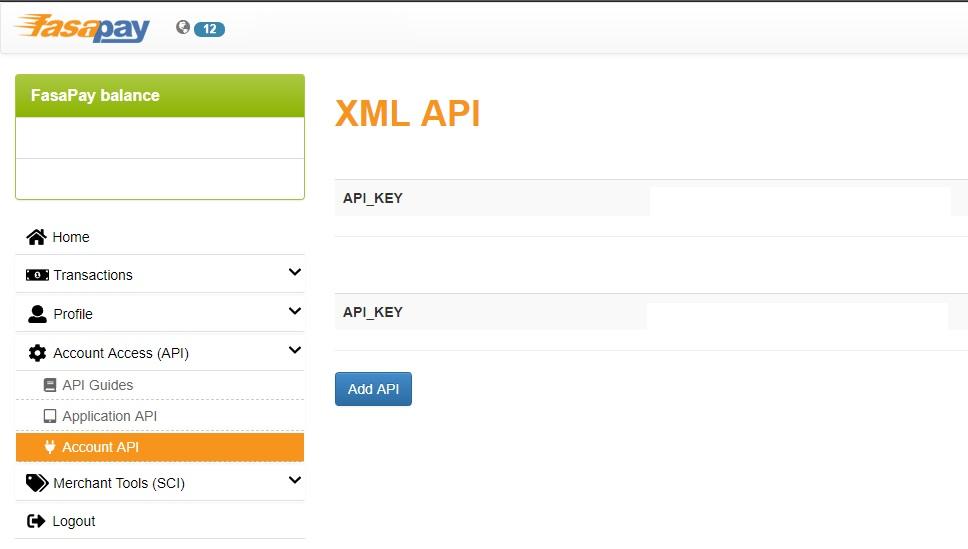 Fasapay XML API client - 1